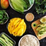 MANGO LETTUCE WRAPS + SIMPLE THAI PEANUT SAUCE