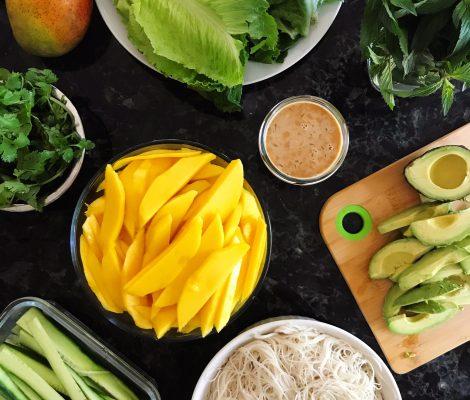 Mango Lettuce Wraps Large size image